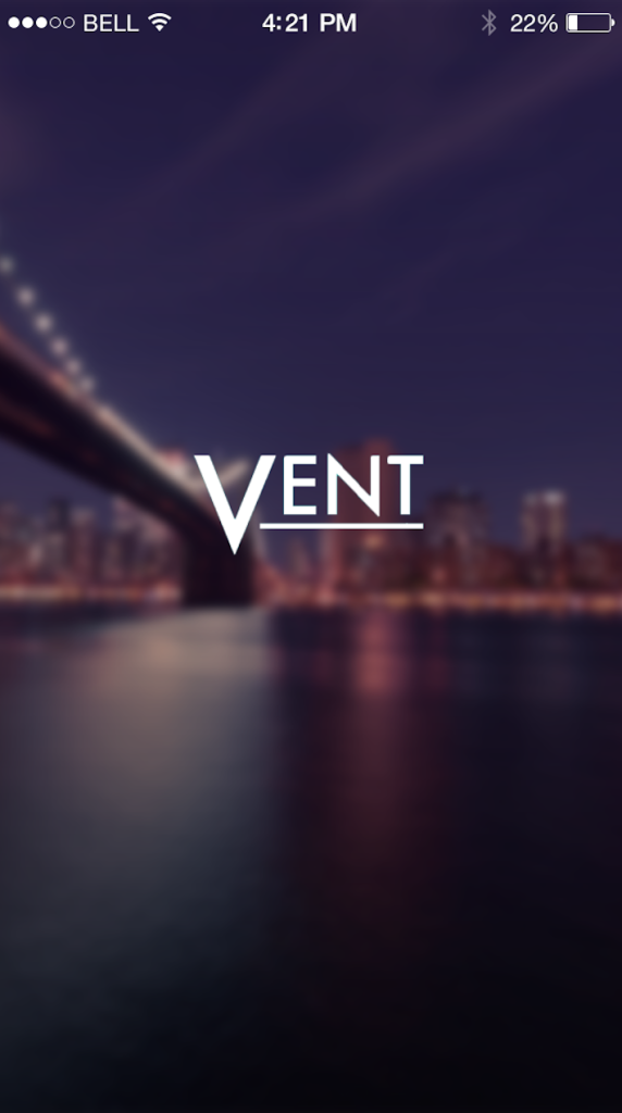 Vent iPhone App Design