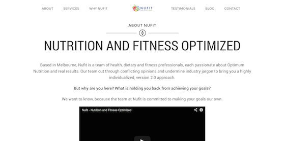 Nufit WebDevelopment Branding Marketing Website Nutrition6