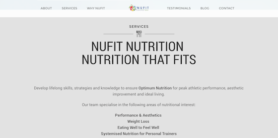 Nufit WebDevelopment Branding Marketing Website Nutrition4