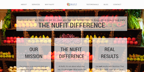 Nufit WebDevelopment Branding Marketing Website Nutrition3