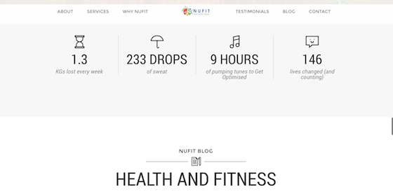 Nufit WebDevelopment Branding Marketing Website Nutrition2