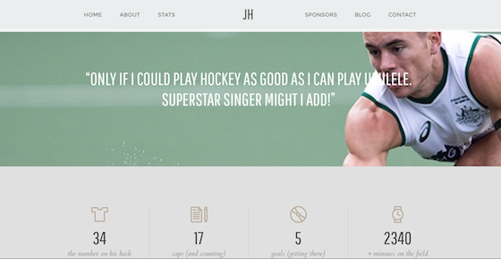 Jeremy Hawyard Hockey Player Website2