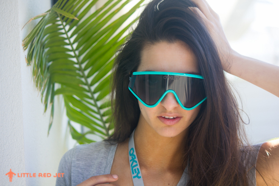 Oakley Heritage Collection Frogskins Razorblades Australia Aqua Sunnies Sunglasses Model Photography-4
